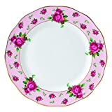 Royal Albert New Country Roses Vintage Formal Dinner Plate, White/Pink