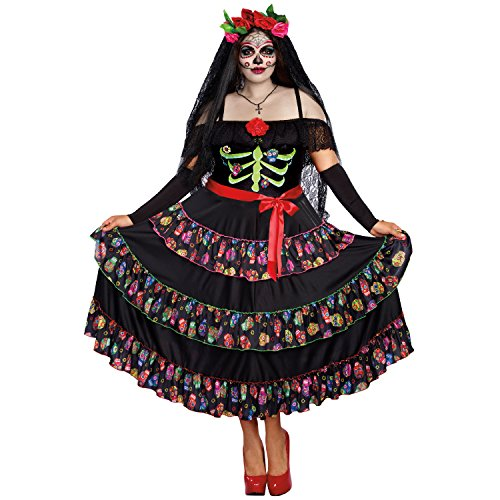 Dreamgirl Women's Lady of The Dead Plus Size, Multi, 2X -