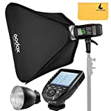 Godox AD600BM AD Sync 1 / 8000s 2.4G Wireless Flash Light Speedlite+Godox XPro-C TTL Wireless Transmitter for Canon EOS Series Cameras,AD-R6,80cmX80cm /32''X32''Softbox