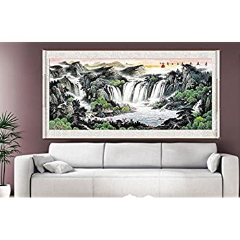 Waterfall Painting Feng Shui Fountain Water