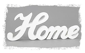 Amazon De Deko Holzaufsteller Schriftzug Home Englisch 32 X 12 5