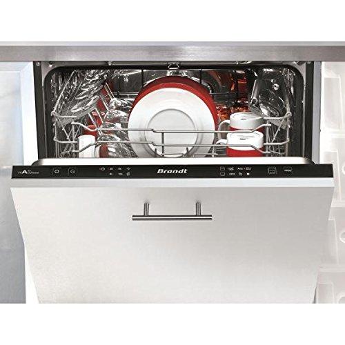 Brandt VH1505J Entièrement intégré 13places A++ lave-vaisselle - Lave-vaisselles (Entièrement intégré, Taille maximum (60 cm), Noir, boutons, 1,5 m, 1,5 m)
