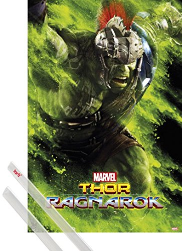 Amazon Com 1art1 Poster Hanger Thor Poster 36x24 Inches
