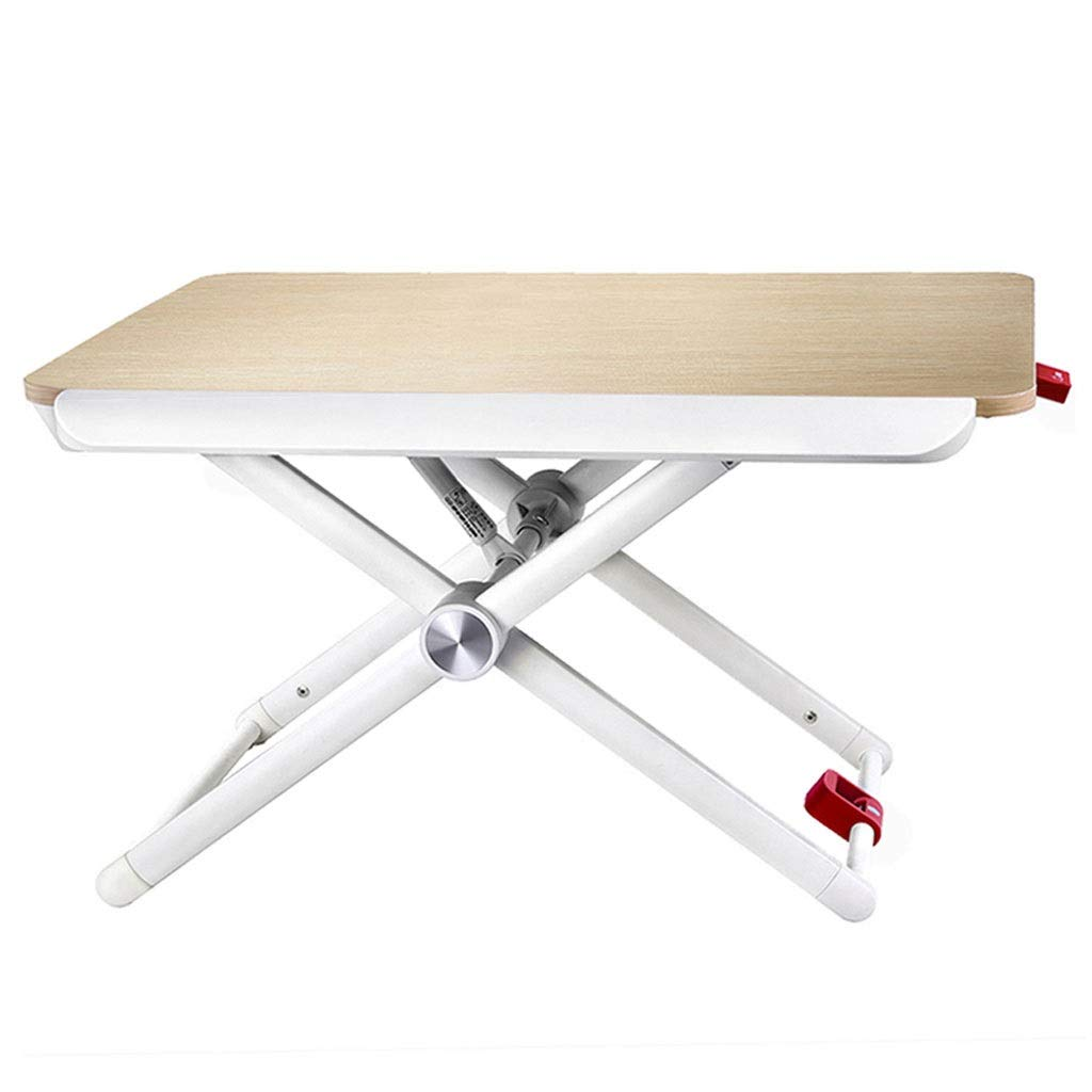 XJY Standing Office Heightening Table Wooden Lifting Workbench Laptop Desk for Bed Portable Mobile Heightening Display Bracket Table