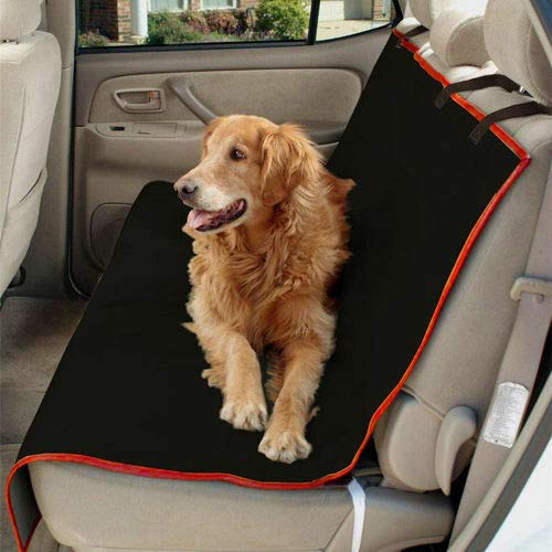 Mr E Saver/© 2in1 Boot Liner And Rear Pet Seat Cover Hammock Black//Red Boot Mat Liner 2in1 MRE21-71