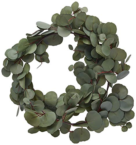 Eucalyptus Garland, Hand-Crafted for an Ultra-Realistic Look and Feel - for use in Wedding Greenery, Home Decor, Table centerpieces, Elegant Party Decorations, Hotel or Cafe Decor. 5 Length