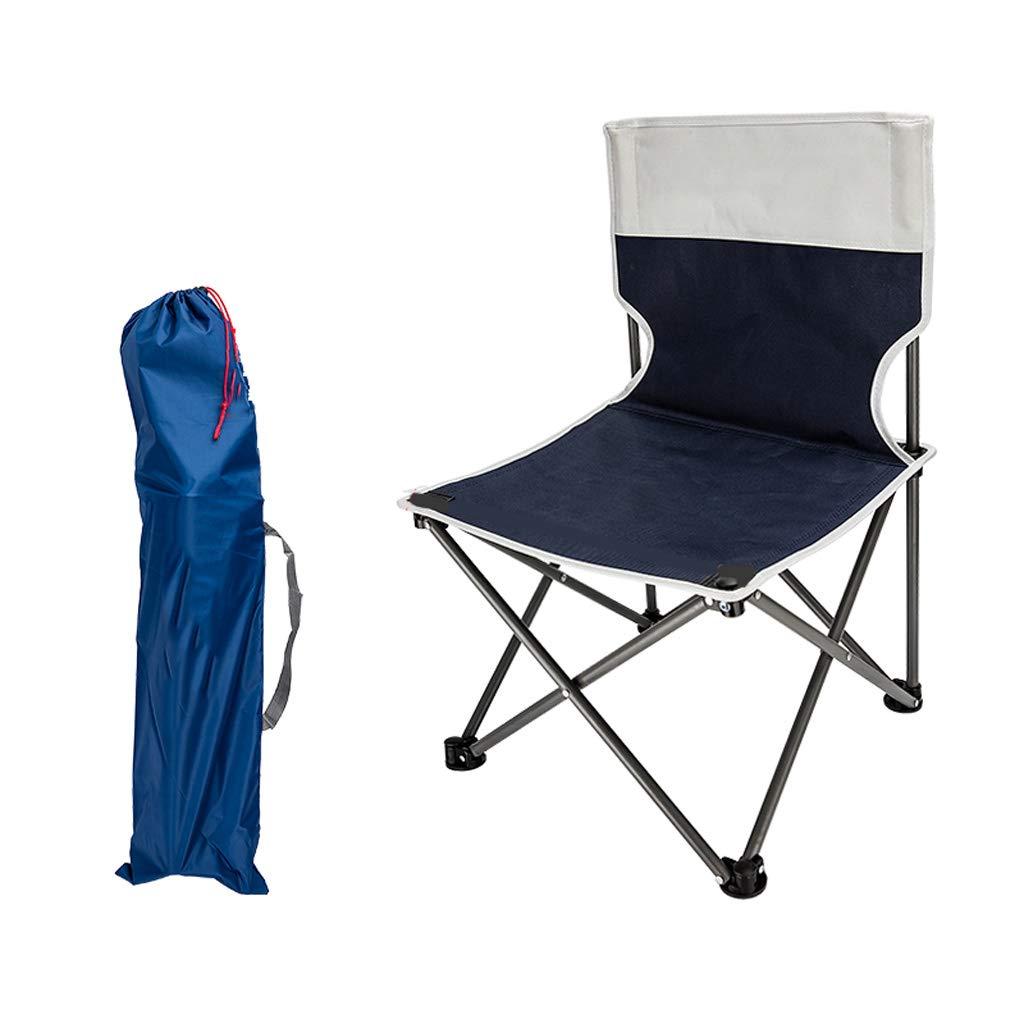 gris Bleu 724242cm Chaise de camping portable - Chaises de randonnée ultralégères et compactes dans Un Sac de Transport, Portant 150 kg (Randonneur, Camp, Plage, extérieur)