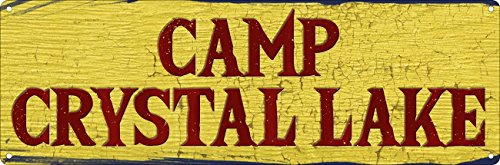 Grindstore Camp Crystal Lake Slim Tin Sign 30.5x10.1cm