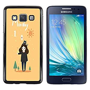 "Dragon Case - FOR Samsung Galaxy A3 - "" - Caja protectora de pl??stico duro de la cubierta Dise?¡Ào Slim Fit"