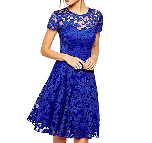 Eliffete Royal Prom Formal Casual Dress Short Sleeve Swing Party Skirt for Teens
