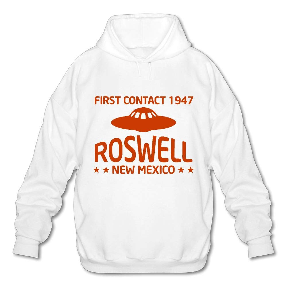 OPQRSTQ-O First Contact 1947 Roswell New Mexico Mens Printed Hooded Sweatshirt Hoody