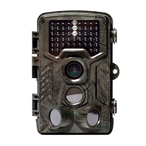 KOFOHON KH1880 Hunting Trail Game Camera, Motion Activated Trailcam with 3 Pir Sensors, Time Lapse 2.4 Inch LCD, Low Glow 46pcs LEDs, 16MP, 1080p HD Infrared Night Vision IP56