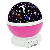 Night Light for Kids, ZHOPPY Star and Moon Starlight Projector Bedside Lamp for Baby Room and Kids Bedroom - Star Light (Pink)