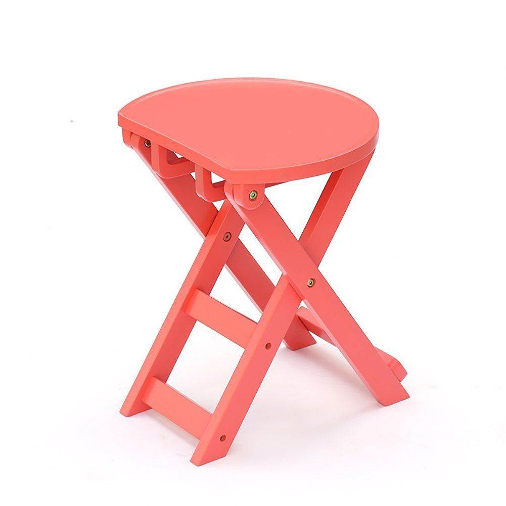 WSSF- ソリッドウッド折りたたみスツール子供キッチンダイニングスツールクリエイティブ変更シューズベンチポータブルレジャー屋外ピクニックスツール高53cm (色 : Pink) B07DQFTDYQ Pink Pink