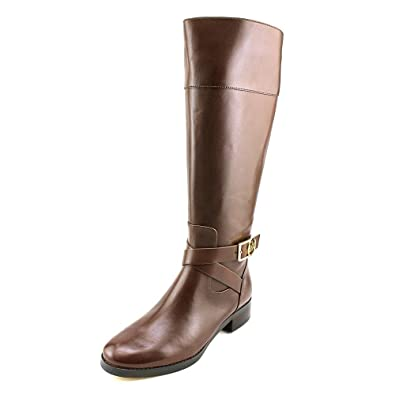 379c8f91f12e Michael Kors Women s Bryce Tall Boot Mocha Wide Shaft Vachetta Leather 11