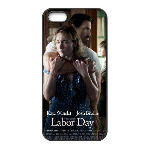 Labor Day coque iPhone 5 5S cellulaire cas coque de téléphone cas téléphone cellulaire noir couvercle EOKXLLNCD25396