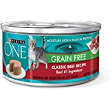 Purina ONE Grain Free Classic Beef Recipe Premium Pate Wet Cat Food - (24) 3 oz. Cans