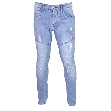 ca4081ccc8c 883 Police Moriarty POW 361 Slim Fit Light Wash Jeans W32 - L34 Light Wash  at Amazon Men s Clothing store