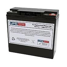 MK ES22-12, LCB EV22-12, Schumacher 5799000010, Ritar RT12220, LONG WP22-12NE, PIHSIANG 109101-66203-21P - UPSBatteryCenter® Compatible Replacement Battery 12V 22Ah, with F8 Insert Terminals