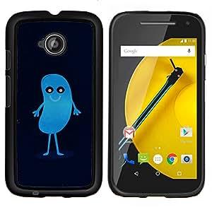 """Be-Star Único Patrón Plástico Duro Fundas Cover Cubre Hard Case Cover Para Motorola Moto E2 / E(2nd gen)( Azul lindo del Frijol"""" )"""
