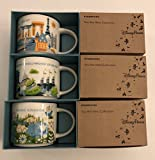 Set of 3: Hollywood Studios + Magic Kingdom+ Epcot YAH 2017 Disney 14 Ounce Starbucks Mugs