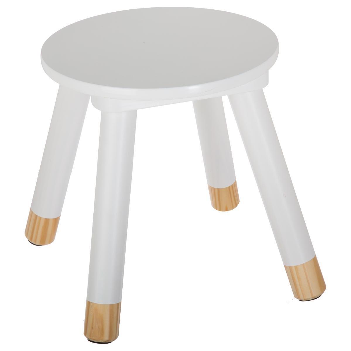 Atmosphera Wooden stool children - Colour WHITE