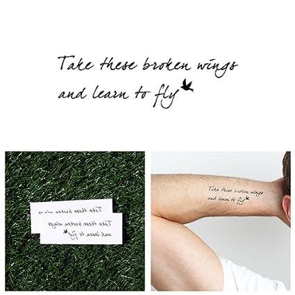 Tatuaje Temporal Tattify - Letra de Canción - Pájaro Negro (Juego ...