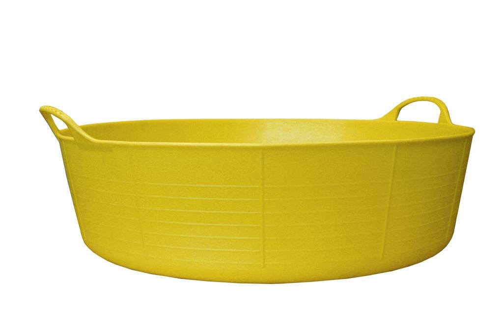 Gorilla 35 Litre Large Shallow 2 Hand LED Tub Hi-Vis, Yellow FCL GORTUB35