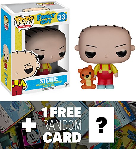 Stewie: Funko POP! x Family Guy Vinyl Figure + 1 FREE American Cartoon Themed Trading Card Bundle (Family Guy Anime Peter)