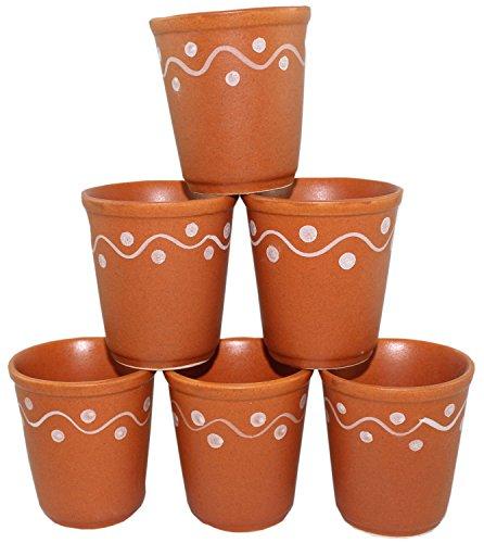 Creativegifts Kulhar Kulhad Cups Traditional Indian Chai Tea Cup Set of 6