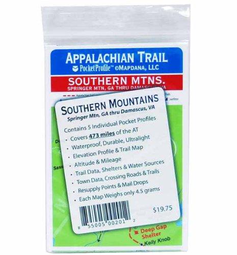 Appalachian Trail Pocket Profile Map Southern Mountains Springer Mtn. GA. To Damascus, VA.