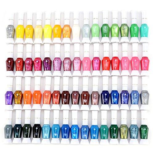60 Farben Nail Polish Glitter Nagellack Fine-Liner 12ml XL Nagelstudio Set