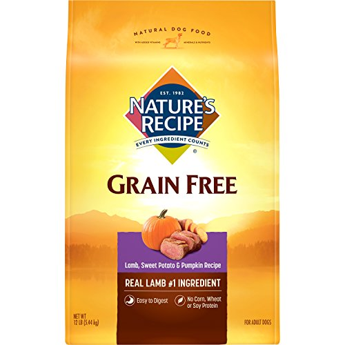 Nature's Recipe Grain Free Easy To Digest Lamb, Sweet Potato And Pumpkin Recipe Dry Dog Food, 12 -