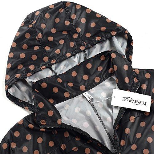 MEANEOR Chaqueta Impermeable chubasquero de lunares outdoor con capucha para mujer