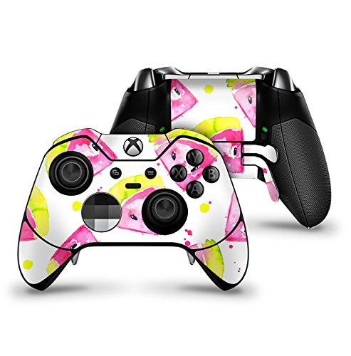 Highlighter Water - Bright Highlighter WaterColor-Melins - Protective Vinyl DesignSkinz Decal Sticker Skin-Kit for the Microsoft Xbox ONE Elite Controller