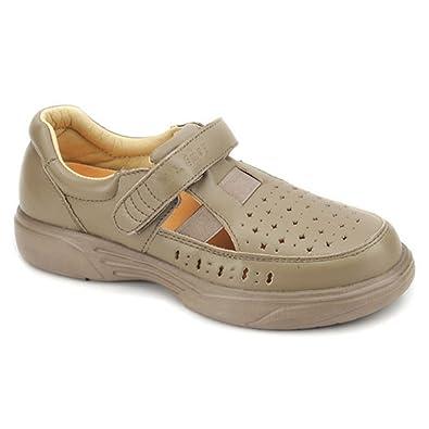 Apis Mt. Emey 9212 Women's Therapeutic Extra Depth Sandal Shoe: Taupe 5  Medium (