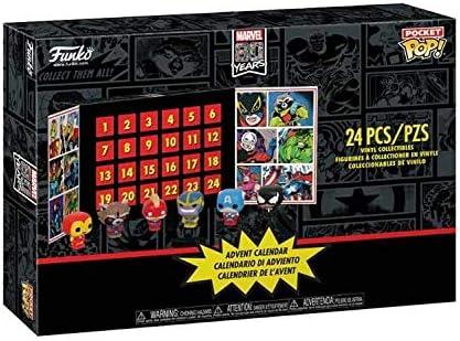 Marvel Funko Pocket Pop Advent Calendar with 24 Pop! Figures Iron Man Captain Thanos
