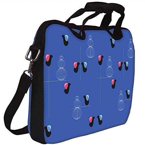 Snoogg Vogel Blau 2450 Gedruckt Notebook-Tasche mit Schultergurt 15 bis 15,6 Zoll