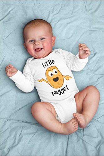 Little Nugget Baby Bodysuit For Sassy, Sarcastic Punny Chicken Farm Hangry Foodie for Food (Sassy Bodysuit)