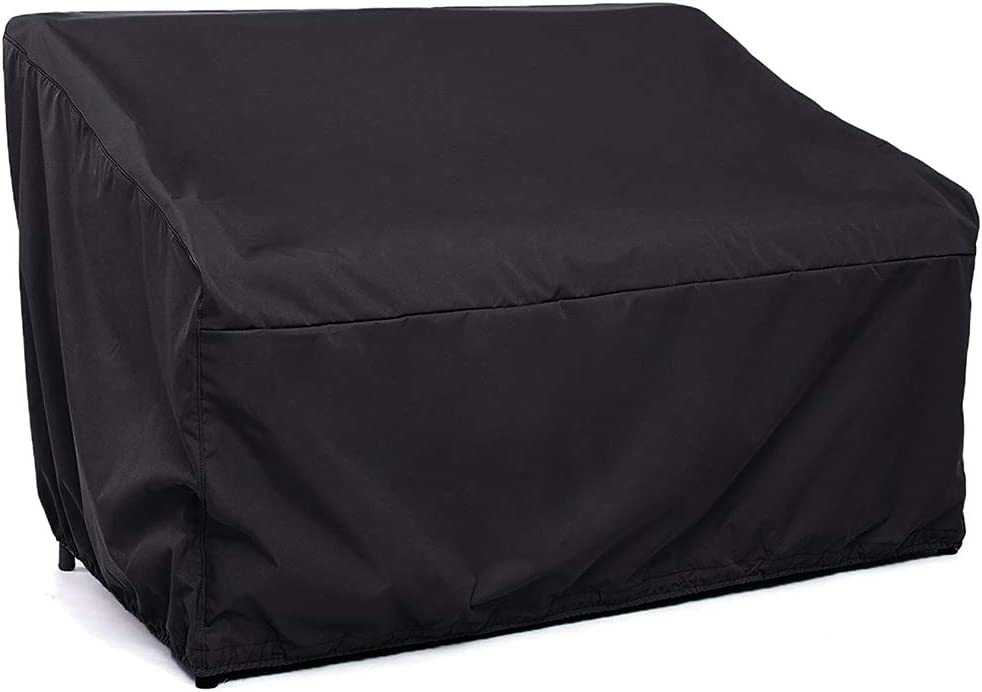 Patio Loveseat Cover Large Seat Patio Chair Cover Oxford Cloth Cover Lounge Deep Chair Cover SV Patio Bench Seat Cover 2-Seat Sofa Cover Waterproof Outdoor Furniture Chair Cover