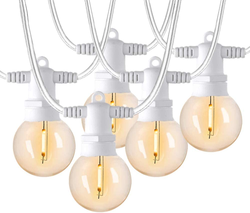 FMART LED Outdoor String Lights, 100Ft G40 Patio Lights, 2700K Warm White Connectable Hanging Patio Lights IP44 Waterproof Backyard String Lights for Balcony Porch Deck, UL Listed