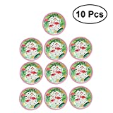 LUOEM 10pcs Flamingo Disposable Paper Plates Cake Dish Wedding Luau Hawaii Party Christmas Valentine's Day Decoration