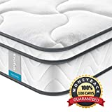 Queen Mattress Inofia 8 Inch Spring Mattress Compressed in a Small Box,7-Zone Pocketed