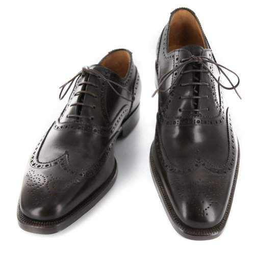 New Sutor Mantellassi Dark Brown Leather Shoes 7.5/6.5 xYc5iMmN1x