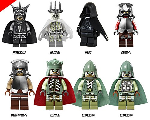 TONGROU The Lord of the Mouth of Sauron Nazgul Mordor lot 8set Minifigures (Gorila Mask)