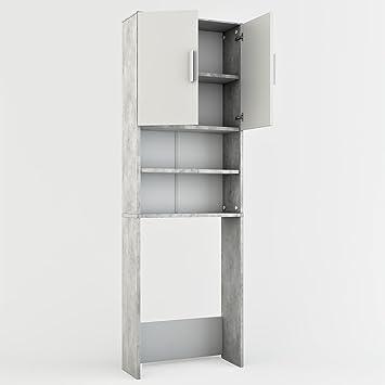 hochschrank k che grau. Black Bedroom Furniture Sets. Home Design Ideas