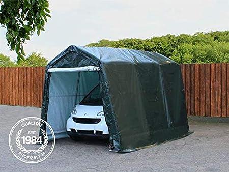 abri de Stockage PE 260 g//m/² TOOLPORT 2,4 x 3,6 m Garage Tente Garage Vert fonc/é
