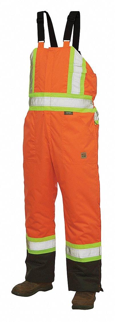 Hi-Vis Insulated Bibs, Flo Orange, S
