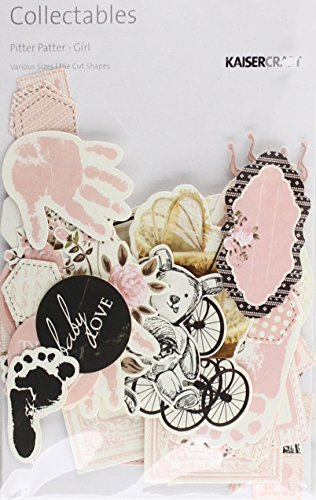 Kaisercraft CT798 Pitter Patter Die Cuts Girl Collectables Cardstock by Kaisercraft