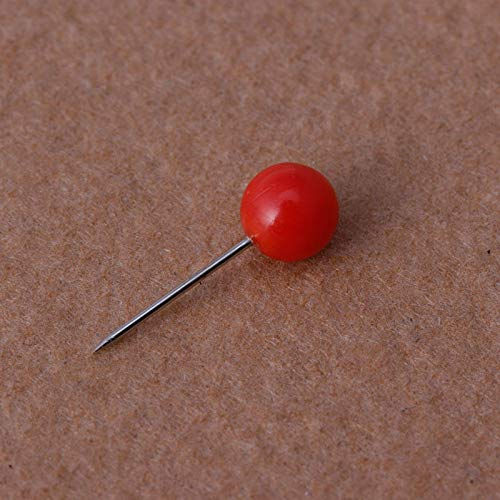 50Pcs//bag Round Pearl Head Pins Fishing Line Brooches Fishing Tackle Multicolor